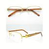 Cartier金色半框眼镜