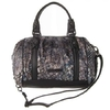 BCBG Max Azria蓝黑色丝绒压纹时尚女式两用包(2011新款)