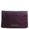 BCBG Max Azria紫色涂�臃�布�Y珠手包(2011年新品)