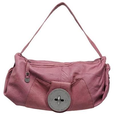 迪赛淡紫色纹理皮时尚肩包