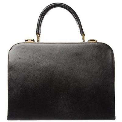 迪赛黑色纹理牛皮奢华手提包